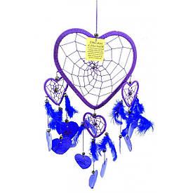Ловец снов Сердечко фиолетовый (38х18 см)