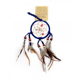 Ловец снов синий (d-6,5 см h-25 см)