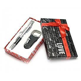 Ручка з открывашкой ножем ліхтариком набір (16,5х10х3 см)