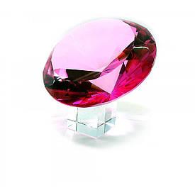 Кришталевий кристал рожевий на підставці (15 см)