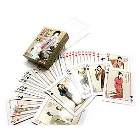 """Карти гральні пластикові """"Дівчата з давньо-китайської живопису"""" (10х7,5х2,5 см)"""