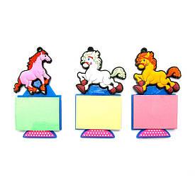 Кінь магніт на холодильник зі стікером (12 шт/уп)(10,5х6х1 см)
