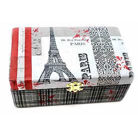 "Шкатулка ""Париж"", масив дерева (20,5*12,5*8 см)"
