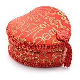"""Шкатулка """"Сердечко"""" з вишивкою (10,5х11,5х5,5 см)"""