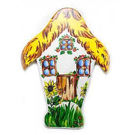 """Ключница """"Домик"""", расписано вручную, массив дерева (26х35х1,5 см)"""