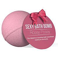 Супер-бомба для ванни Dona Bath Bomb - Rosey Posey (128 гр), приємний аромат троянди