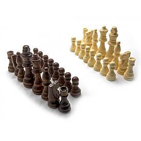 """Шахові фігури дерев'яні в блістері (h фігур 3,5-7,5 см ,d 1,8-2,2 см)(3"""")"""