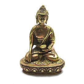 Бронзовий Будда оміднений (18х12х7,5 см)(1120 р.)