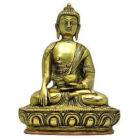 Будда в позі лотоса бронзовий (18х12х7,5 см)(1130 р.)