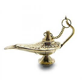 Лампа Алладина бронзовая (11х9,5х4,5 см)