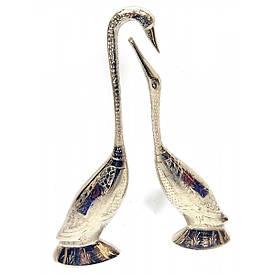 Лебеді пара бронзові хромування (18,5х5х3 см)