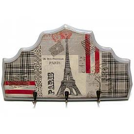 """Ключниця вішалка """"Париж"""", масив дерева (34х19 див.)"""
