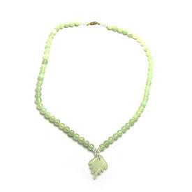 Ожерельлье нефритове з кулоном (33 см)