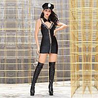 """Еротичний костюм поліцейського """"Сногшибательная Ніккі"""" сукня трусики, кашкет, комір, наручники"""