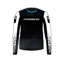 "Футболка Haibike ""Freeride"", длинный рукав, XS, черно-белый"