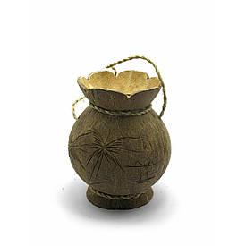 Ваза з кокоса (14х11х11 см)