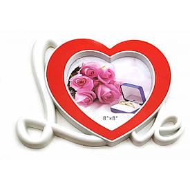 """Фоторамка """"Love"""" (фото 15х15 см)(26х21х2 см)"""