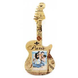 """Фоторамка """"Гітара"""" (фото 12х8 см гітара 40х17х1 см)"""