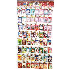 Новорічні листівки (н-р 320 шт)(3,5х5,5 см)