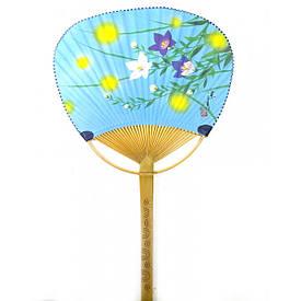 """Віяло опахало з малюнком """"Квіти"""" (38х24,5х0,5 см)"""