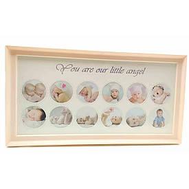 """Фоторамка """"Для новонароджених"""" для дівчаток (39х20х2 см)"""