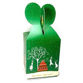 "Коробка пакувальна ""Merry Christmas"" зелена (12шт/уп) (15х9х9 см)"