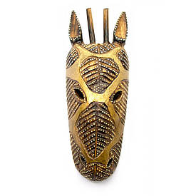 """Маска дерев'яна різьблена """"Жираф"""" (10х4х27 см)"""