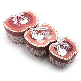 """Коробки пакувальні """"Яблуко"""" (н-р/3шт)(19х16х9,5 см 16х13х8 см 13х7,5х11 см)"""