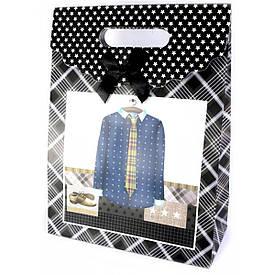 """Пакет подарунковий картон """"Одяг"""" (25х11х32 см)"""