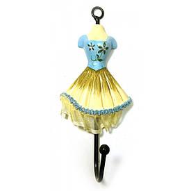 """Вішалка-ключниця для одягу """"Манекен"""" бірюзовий (28х13х13 см)"""