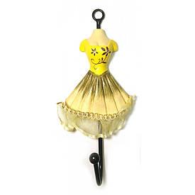 """Вішалка-ключниця для одягу """"Манекен"""" жовтий (28х13х13 см)"""