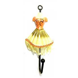 """Вішалка-ключниця для одягу """"Манекен"""" помаранчевий (28х13х13 см)"""