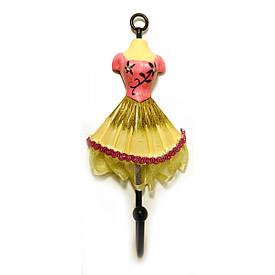 """Вішалка-ключниця для одягу """"Манекен"""" рожевий (28х13х13 см)"""