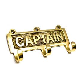 """Вішалка-ключниця для одягу бронза """"Captain"""" (12х6х2,5 см)"""