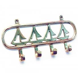 """Вішалка-ключниця для одягу бронза """"Вітрильники"""" (18х8х2 см)"""