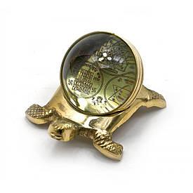 Черепаха бронзова з янтрами (10х5,5х7 см)