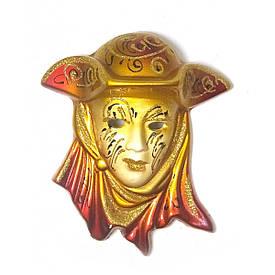 """Маска керамічна """"Венеція"""" золота (12,5х11х5 см)(уп/6 шт)"""