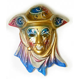 """Маска керамічна """"Венеція"""" різнобарвна (12,5х11х5 см)(уп/6 шт)"""