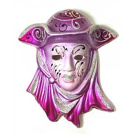 """Маска керамічна """"Венеція"""" рожева (12,5х11х5 см)(уп/6 шт)"""