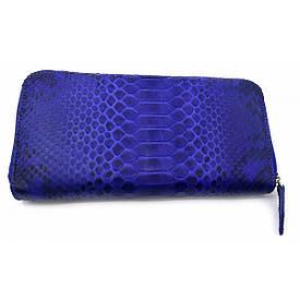 Гаманець зі шкіри пітона синій (20х10х3 см)