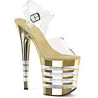 20 см hate sky high хромированные полосатые туфли с кристаллами на водонепроницаемой платформе для ночного клуба pole dance модель подиум сандалии на