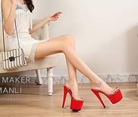 Модель автомобиля / модель на высоком каблуке 18 см сандалии на платформе на очень высоком каблуке женские корейские версии нескользящей прозрачной