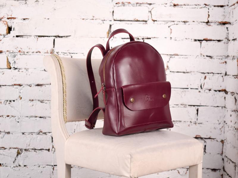 Рюкзак из натуральной кожи Modena бордовый