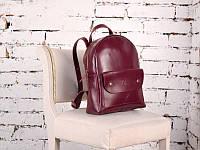 Рюкзак из натуральной кожи Modena бордовый, фото 1