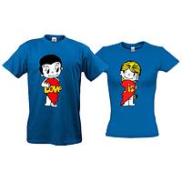 Парные футболки  Love is