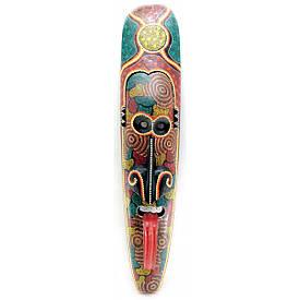 Маска з мовою писана дерев'яна (100х20,5х8 см)