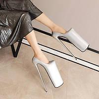 Невозвратный / обмен не подлежит обмену / туфли на высоком каблуке на шпильке 30 см, серебристая платформа, водонепроницаемая платформа, ненависть,