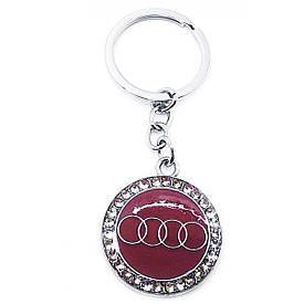 """Автомобільний Брелок (U)""""Audi"""" бордовий"""