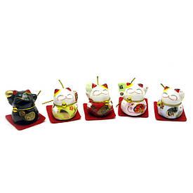 Кошки Манэки-нэко (набор 5 шт) (23,5х6х4 см)