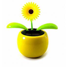 Танцюючий квітка на сонячній батареї (Flip Flap) (10х11х7см)